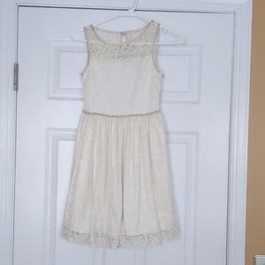 Girls Size 8 Speechless Cream lace dress